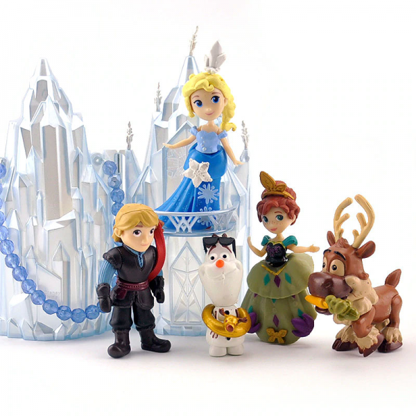 Figure Frozen isi 5 pcs + Istana Ice Castle