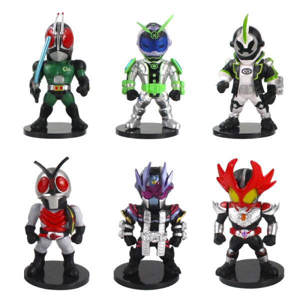 Action Figure Kamen Rider Black RX isi 6pcs