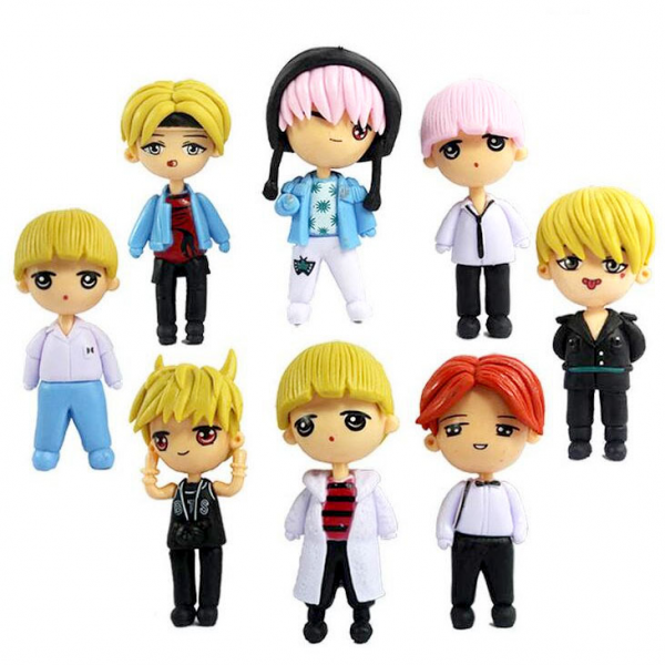 Figure KPOP BTS BT21 Idol isi 8pcs