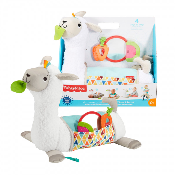 Mainan Baby Fisher Price Grow with Me Tummy Time Llama
