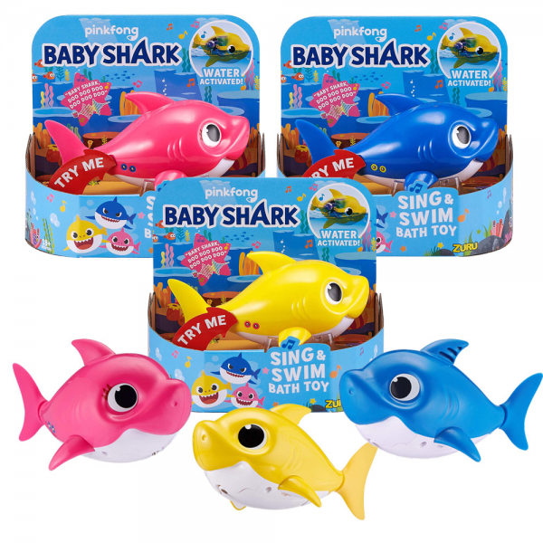 Mainan Mandi Zuru Robo Alive Junior Baby Shark