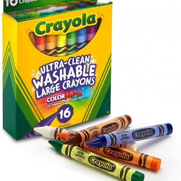 Crayola Washable Crayons Large 8 Colors/Box
