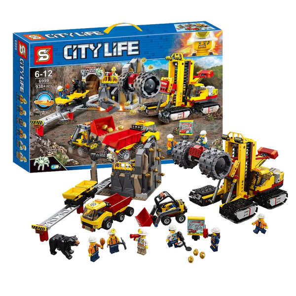 SY City 6999 Mining Experts Site Construction Lego KW