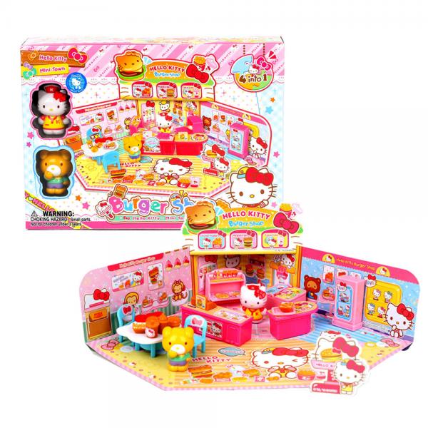 Figure Hello Kitty Burger Shop Playset
