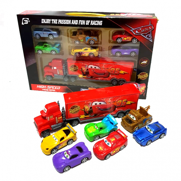 Diecast Cars 3 Piston Cup isi 7 pcs