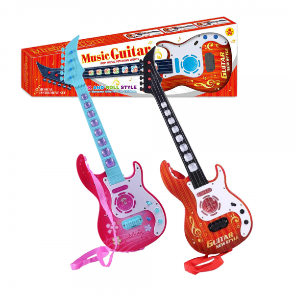 Instrument Set Music Electric Guitar With Lights