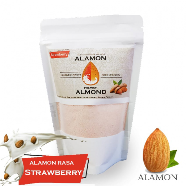 Susu Almond Rasa Strawberry