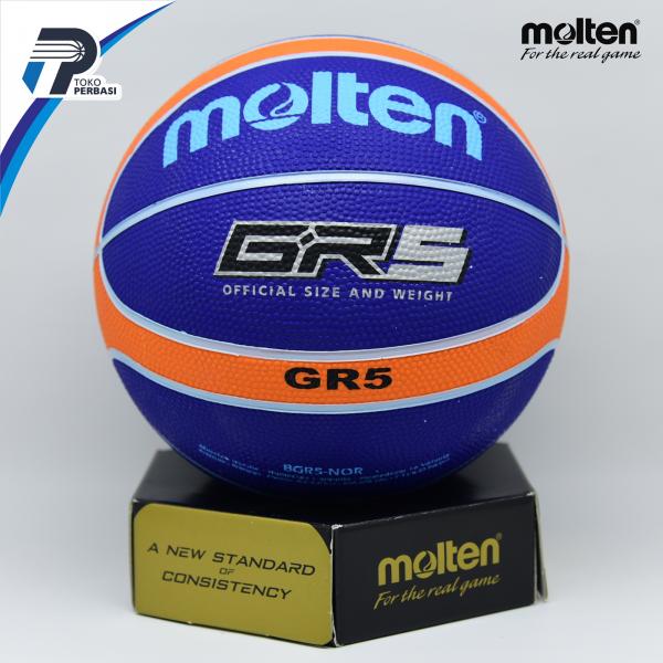 Bola Basket Molten GR5 Blue ( Outdoor )