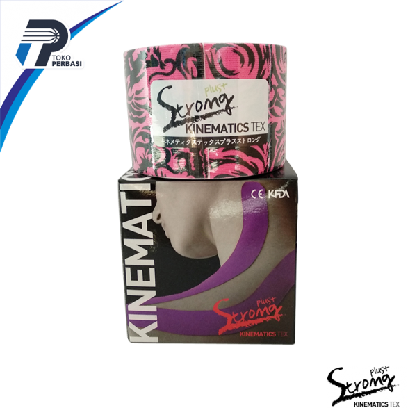 Kinesio Tape + Plus Strong ( Spol Kinematics Tex ) Tatto Pink / Motif