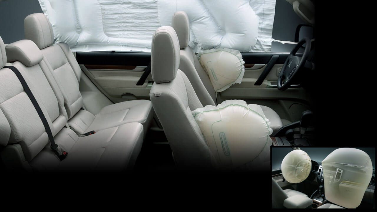 6-airbag and Pre-tensioner