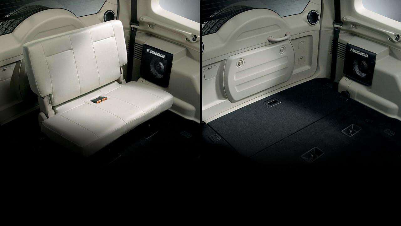Xếp ghế linh hoạt với hàng ghế thứ 3 gập phẳng sàn