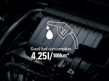 Fuel Economy : 4.99L/100km   Easy to drive  / Spaciousness and comfort (*)