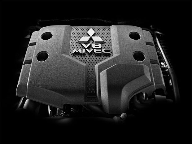 Powerfull and fuel efficient 3.0-liter V6 MIVEC engine