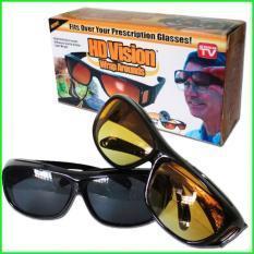 a1eaf9467f2 HD Vision Anti Glare Night View Driving Glasses Wrap Around Sunglasses 2  pcs black   brown in 1 box