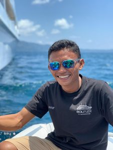 Smiles on board - About to head out to some of the best dive sites in the world - The best scuba diving locations in the world - Palau - Philippines - Tubbataha - Anilao - Verde - Romblon - Ticao - Malapascua - Leyte - Surigao - Indonesia - Raja Ampat - Banda - Forgotten Islands - Ambon - Komodo - Labuan Bajo - Experience some of the best liveaboard diving in the world - from Manta rays - Whale Sharks - hammerhead sharks - thresher sharks - macro - supermacro - tiger sharks - and more