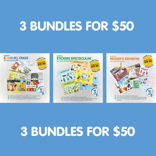 All 3 bundles for $50! Tons of fun, all in one!