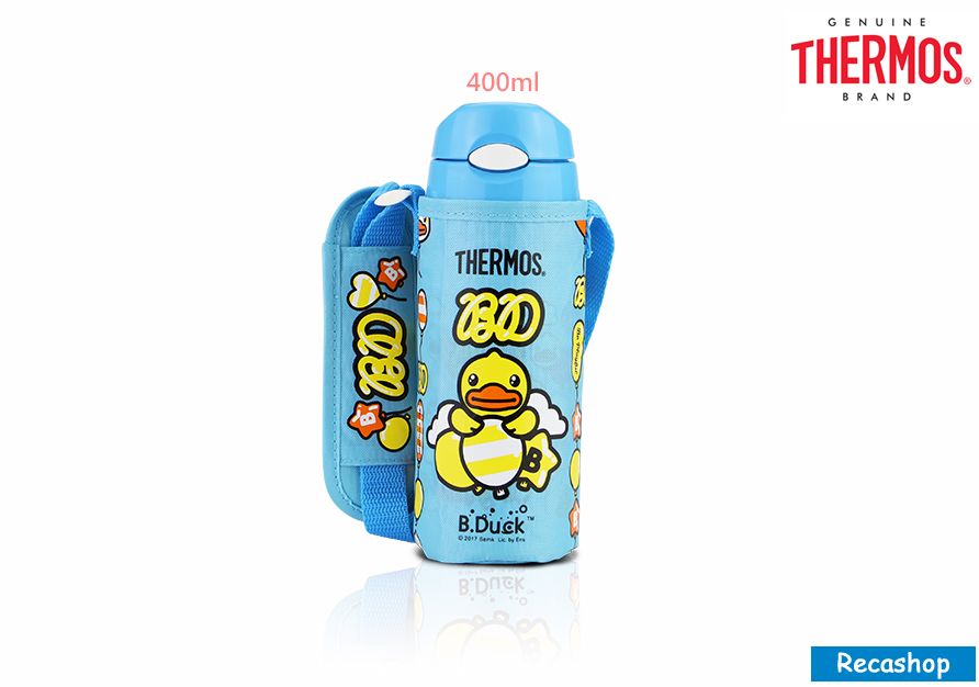 FHL-401BD-BL-Thermos 400ml Ice Cold Bottle W Bag (Bduck).jpg