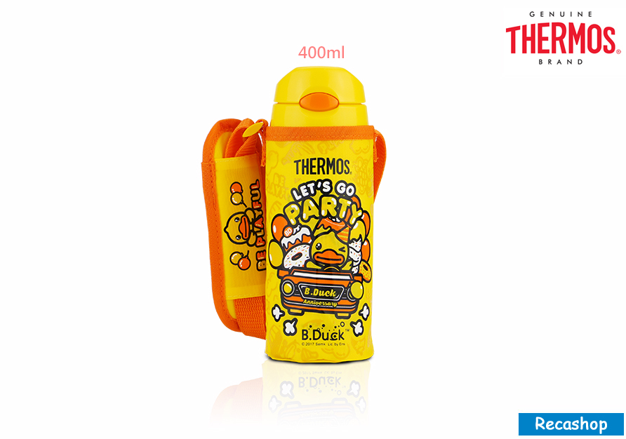 FHL-401BD-WH-Thermos 400ml Ice Cold Bottle W Bag (Bduck).jpg