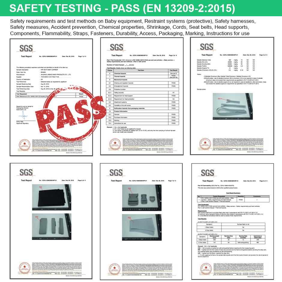 standard safety sgs pass ezbaby european standard