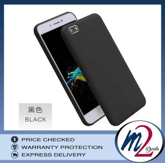 m2deals.my_frosted hard back cover casing_oppo A57_black_1.jpg