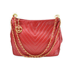 Chanel Vintage Chevron Shoulder Bag