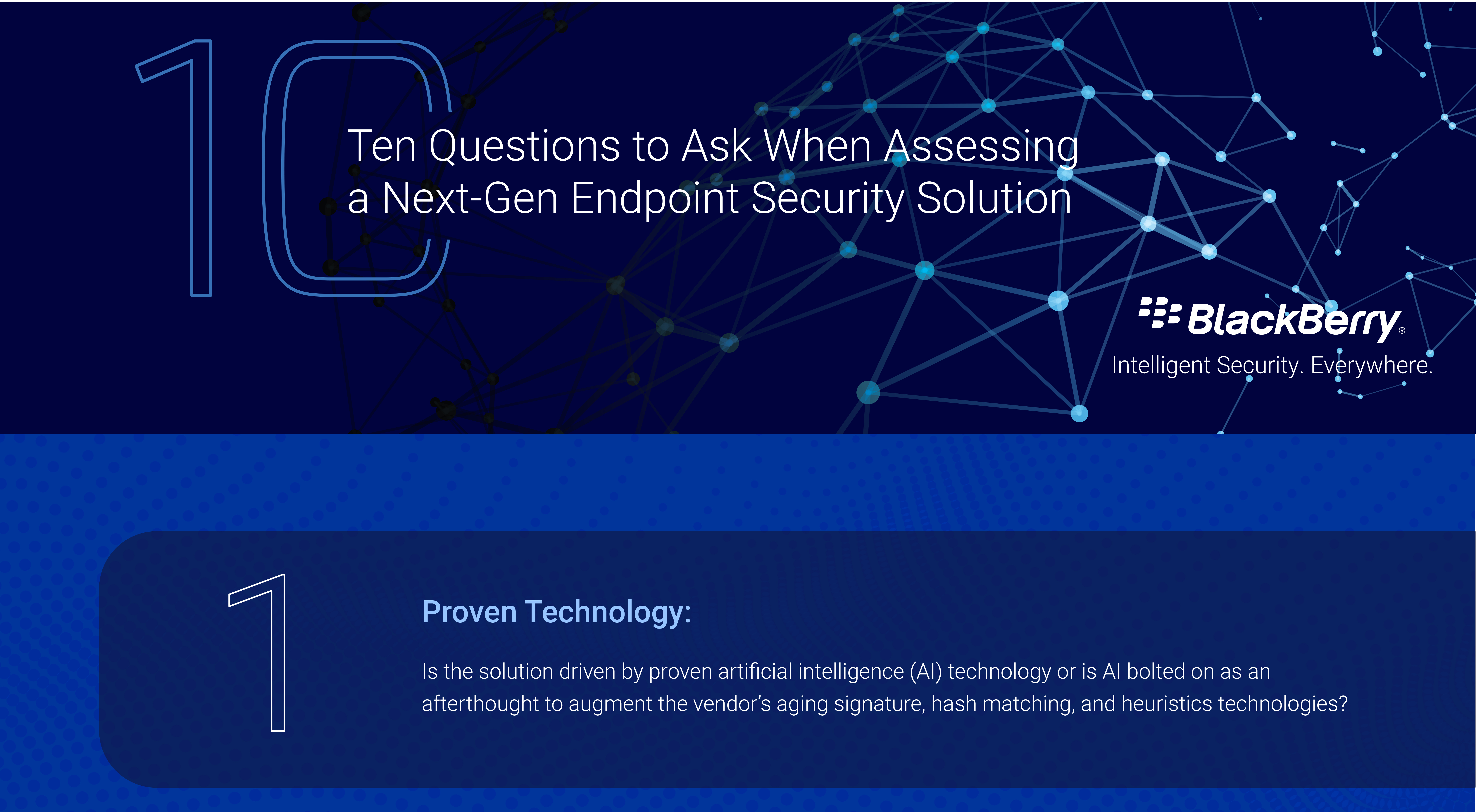 Ten questions to ask when assessing a next-gen endpoint security solution