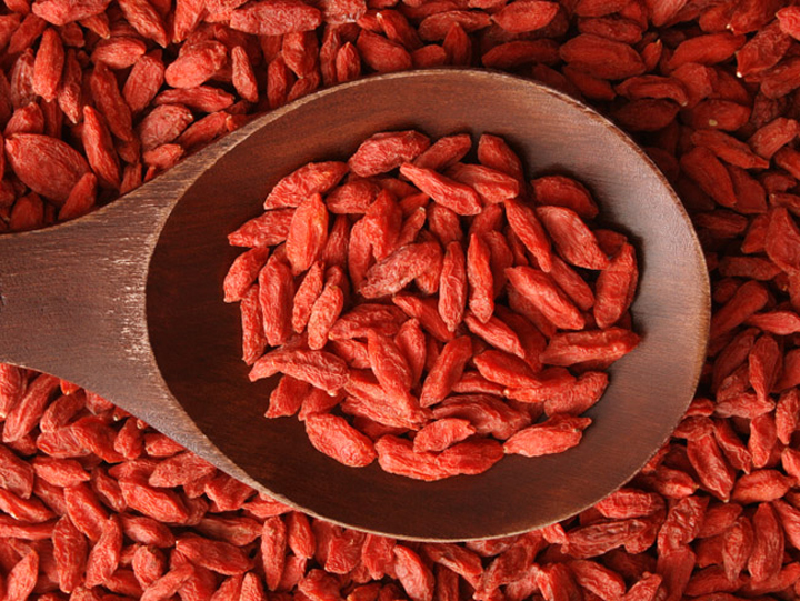 Dried Chinese Wolfberry Goji Berries. Image size:720x541px