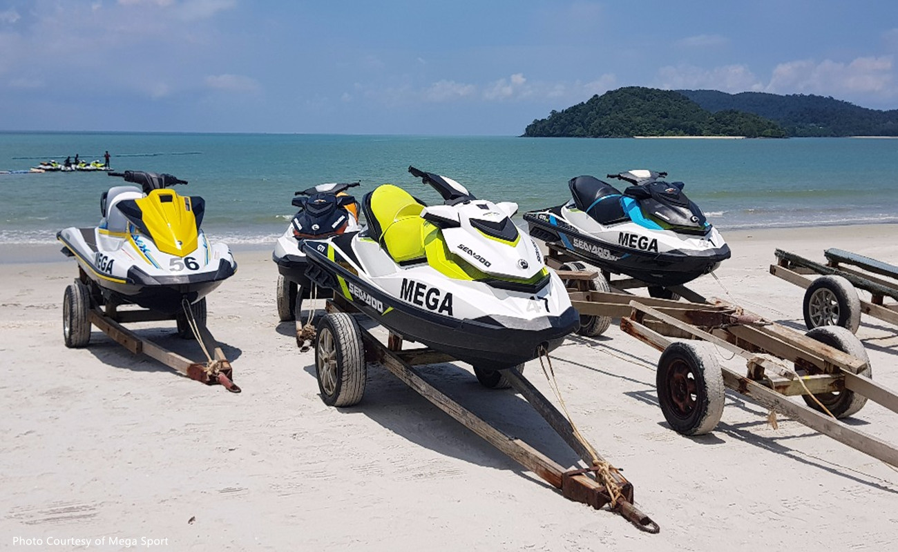 Jet Ski Tours to Three Island Tour Single Rider