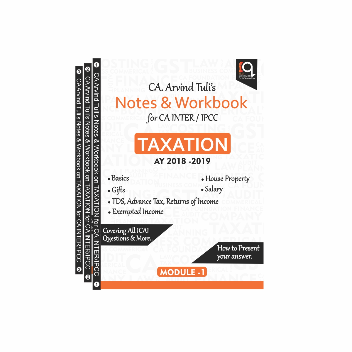 CA IPCC/Inter Taxation Books for Nov 18/May 19