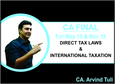 CA Final Direct Tax Laws and International Taxation for May and Nov 19