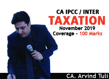 CA IPCC/Inter Taxation - Nov 2019