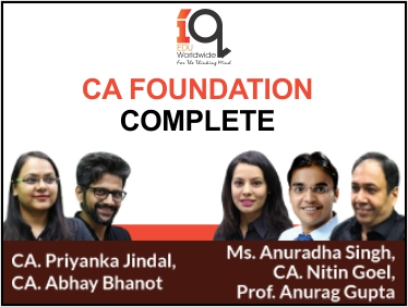 CA Foundation Complete - Nov 19 and May 20