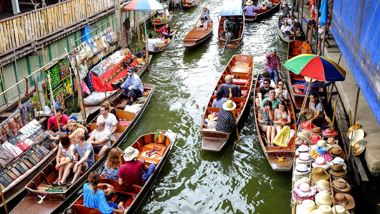 Image result for Damnoen Saduak Floating Market