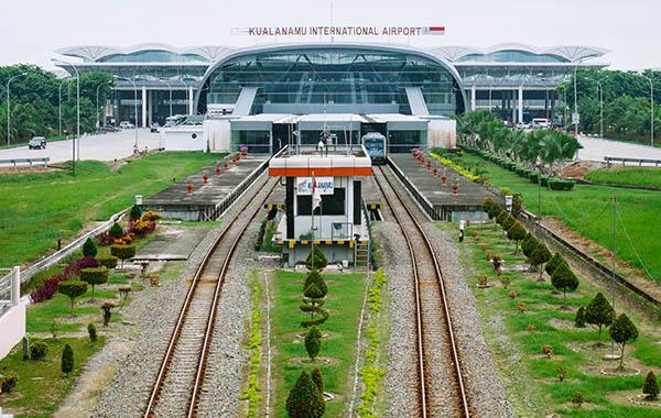 Medan Train Station at Kualanamu Airport