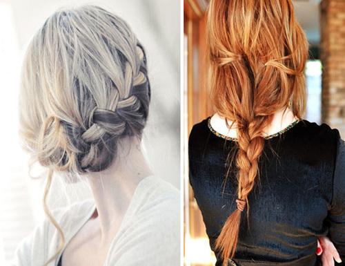 Kiểu tóc tết hững hờ, buông lơi như thế này có thể kết hợp với váy cưới theo phong cách Bohemian.