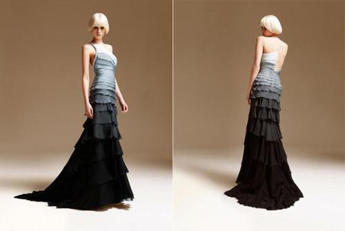 Váy hai dây màu đen xám cá tính.