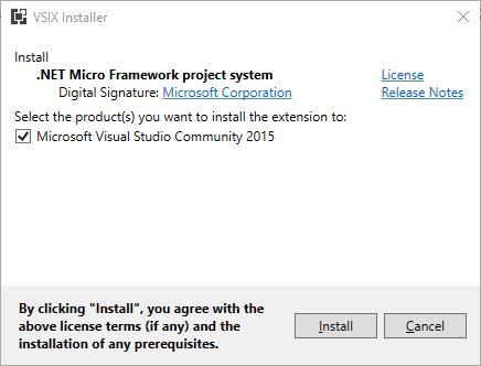 install .NET Microframework plugin