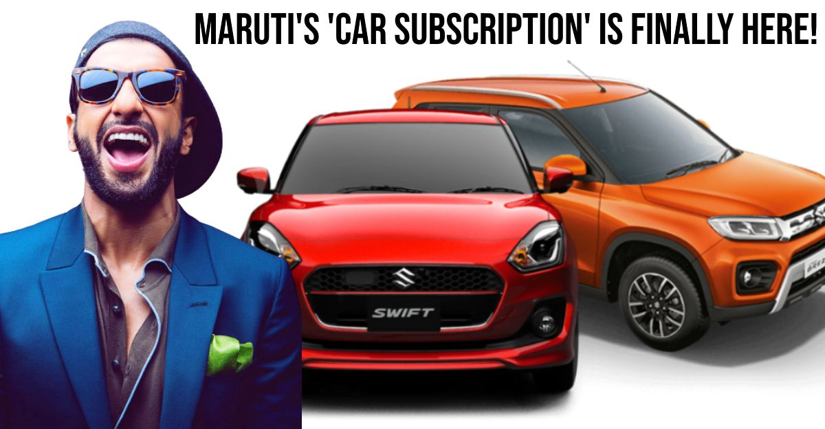 Maruti launches vehicle lease subscription service for individual customers