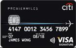 Citibank Premier miles Visa Card