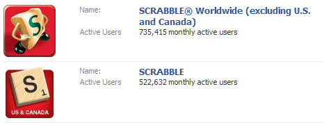 Scrabble Applications on Facebook