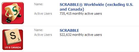 Scrabble Applications on Facebook