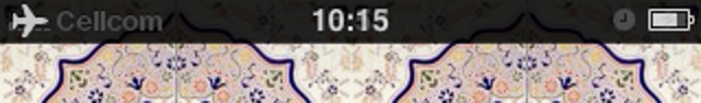 Ghost in my iPhone - status bar zoom