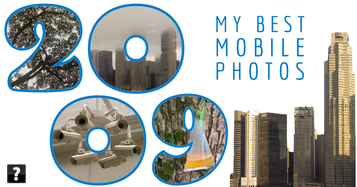 Collage of photos taken on mobile devices in 2009 by beggs