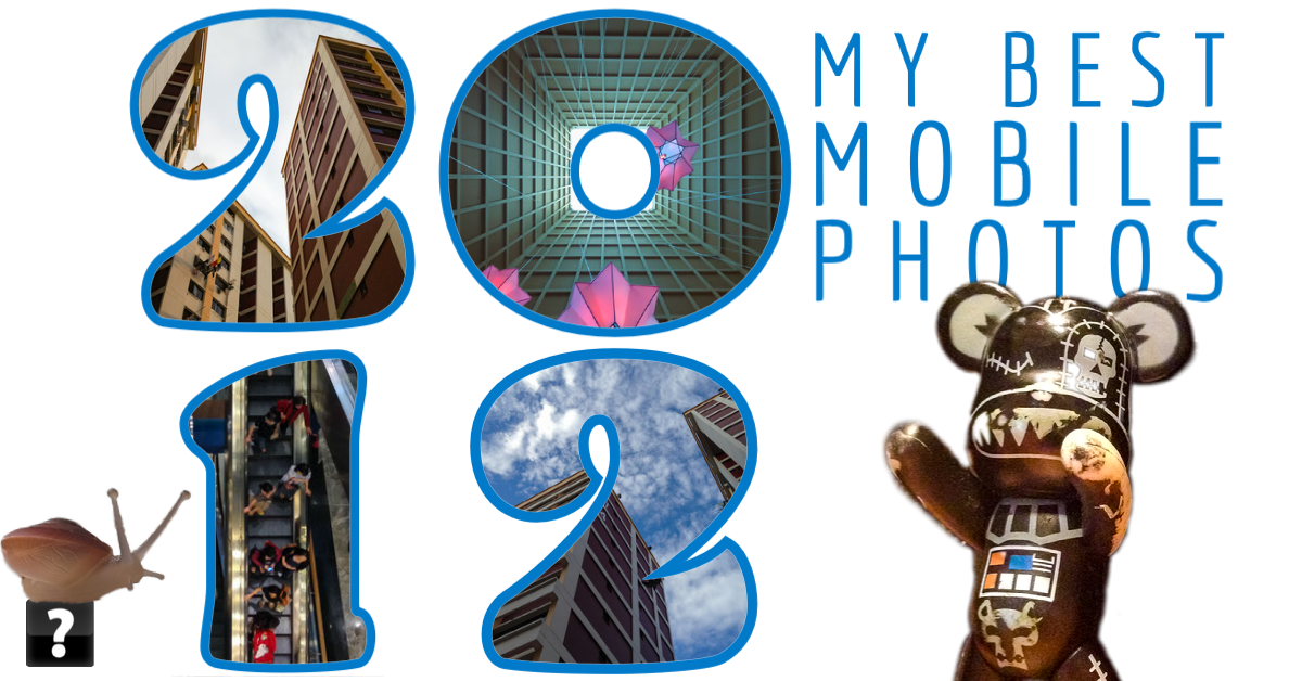 Collage of photos taken on mobile devices in 2012 by beggs