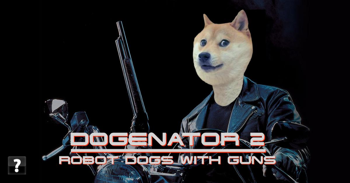 Terminator 2 poster parody with Doge meme