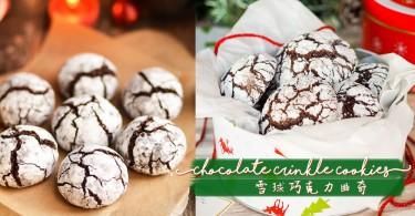 開始倒數聖誕了哦!簡易自製外脆內糯的可愛巧克力雪球曲奇