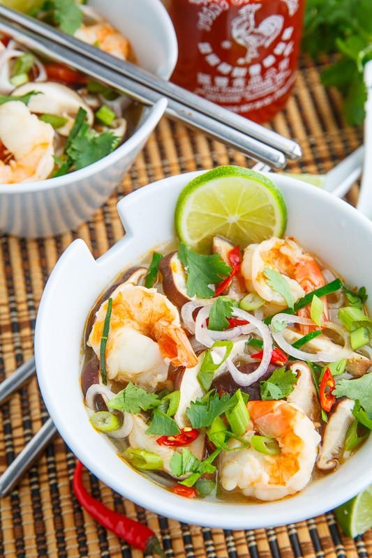 酸辣蝦湯1