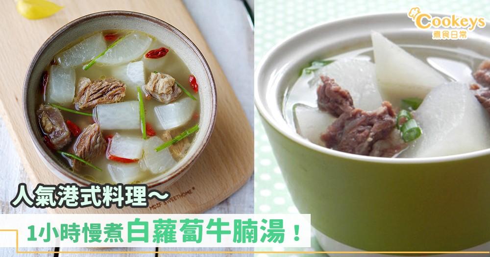 港式牛腩~1小時做好白蘿蔔牛腩湯!