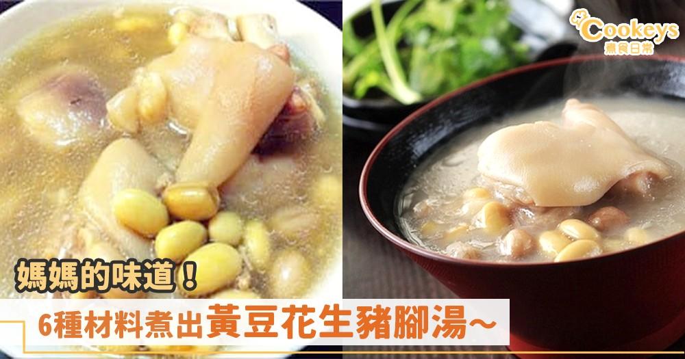 秋冬滋潤湯水!6種材料就能煮出黃豆花生豬腳湯~