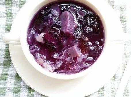 紫薯雪耳糖水1